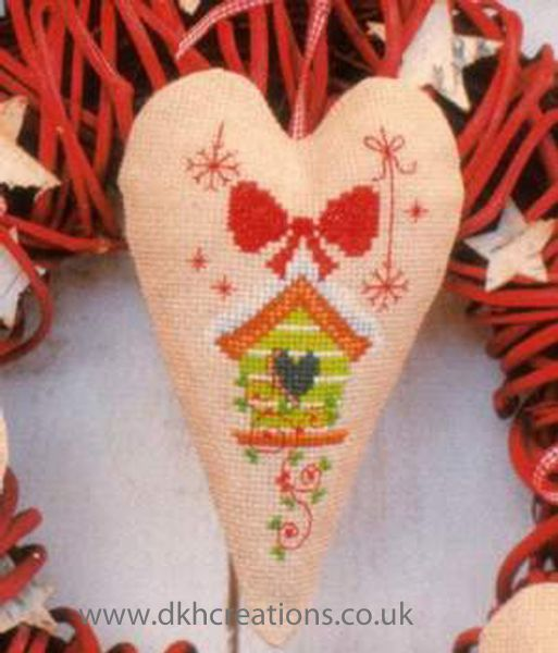 Birdhouse Christmas Decoration Cross Stitch Kit